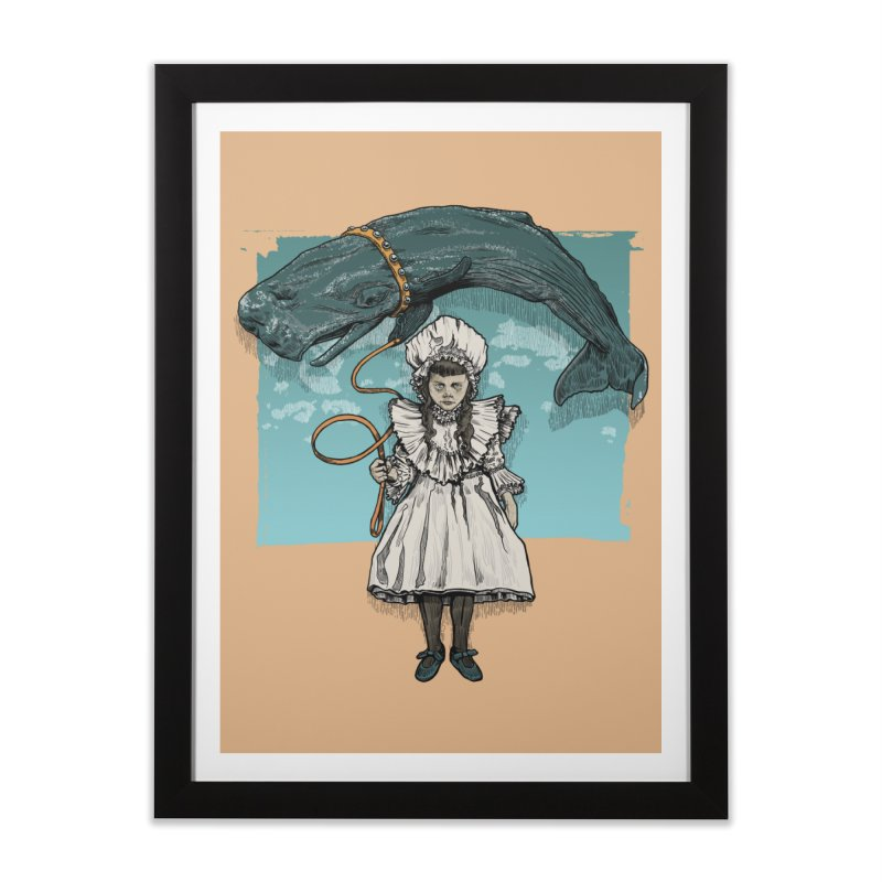 My Pet Whale Home Framed Fine Art Print by Octophant's Artist Shop