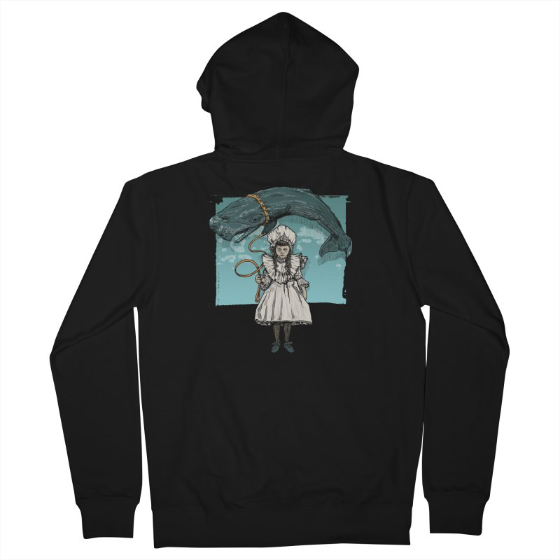My Pet Whale Women's French Terry Zip-Up Hoody by Octophant's Artist Shop