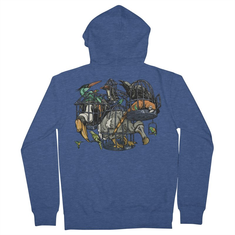 The Aviary Women's Zip-Up Hoody by Octophant's Artist Shop