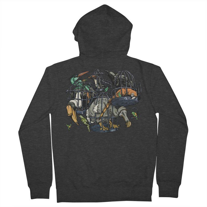 The Aviary Men's Zip-Up Hoody by Octophant's Artist Shop