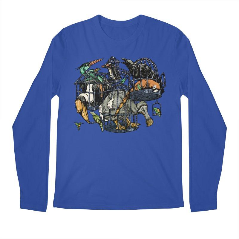 The Aviary Men's Longsleeve T-Shirt by Octophant's Artist Shop