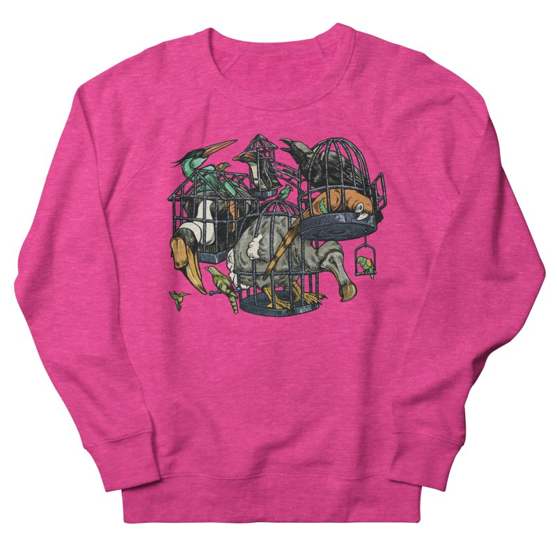 The Aviary Women's Sweatshirt by Octophant's Artist Shop