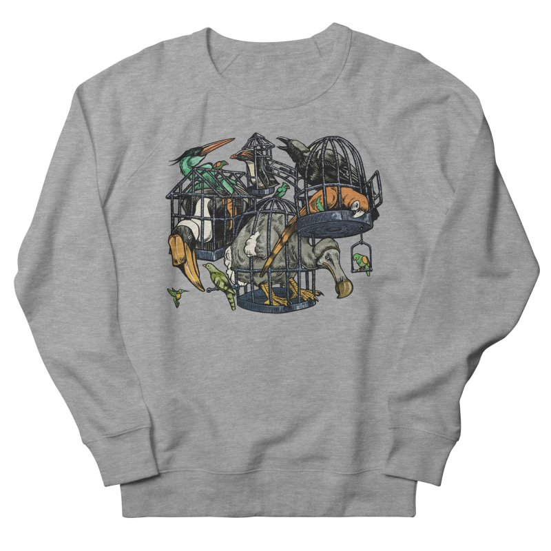 The Aviary Men's Sweatshirt by Octophant's Artist Shop