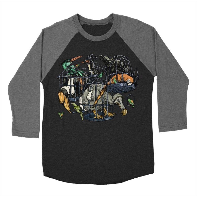 The Aviary Women's Baseball Triblend Longsleeve T-Shirt by Octophant's Artist Shop