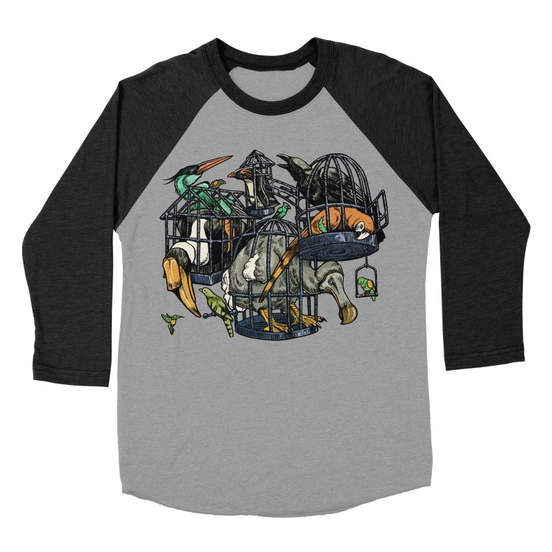 The Aviary Women's Baseball Triblend T-Shirt by Octophant's Artist Shop