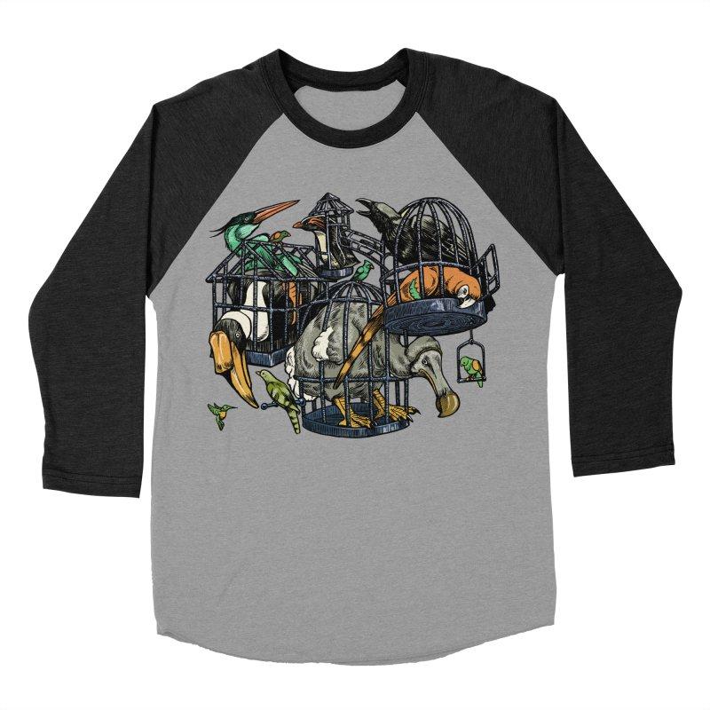 The Aviary Men's Baseball Triblend T-Shirt by Octophant's Artist Shop