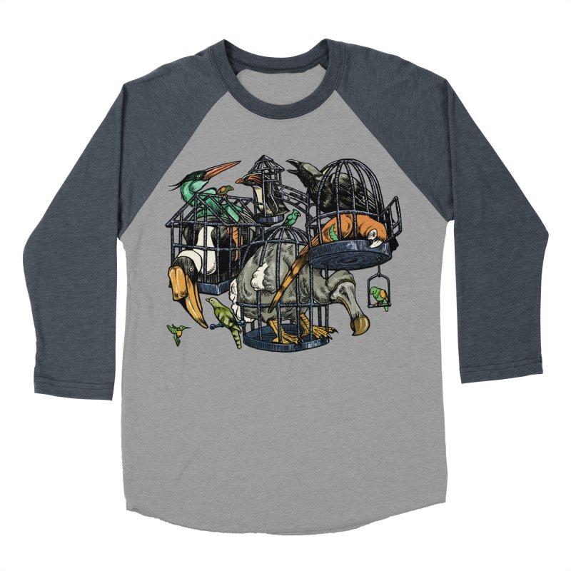 The Aviary Men's Baseball Triblend Longsleeve T-Shirt by Octophant's Artist Shop