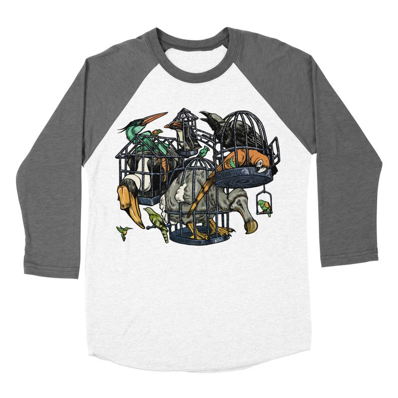 The Aviary Men's Baseball Triblend T-Shirt by Octophant's Artist Shop