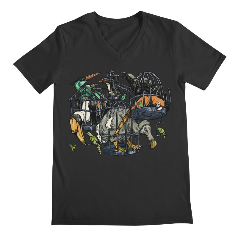 The Aviary Men's V-Neck by Octophant's Artist Shop