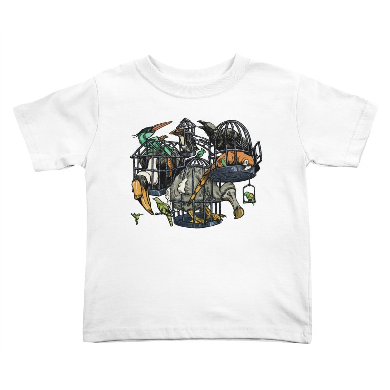 The Aviary Kids Toddler T-Shirt by Octophant's Artist Shop
