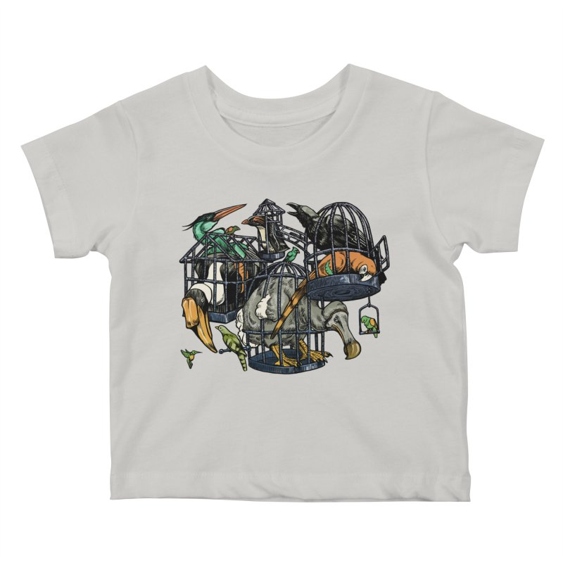 The Aviary Kids Baby T-Shirt by Octophant's Artist Shop