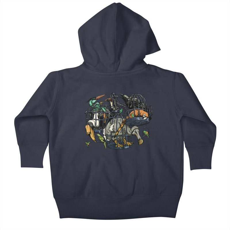 The Aviary Kids Baby Zip-Up Hoody by Octophant's Artist Shop