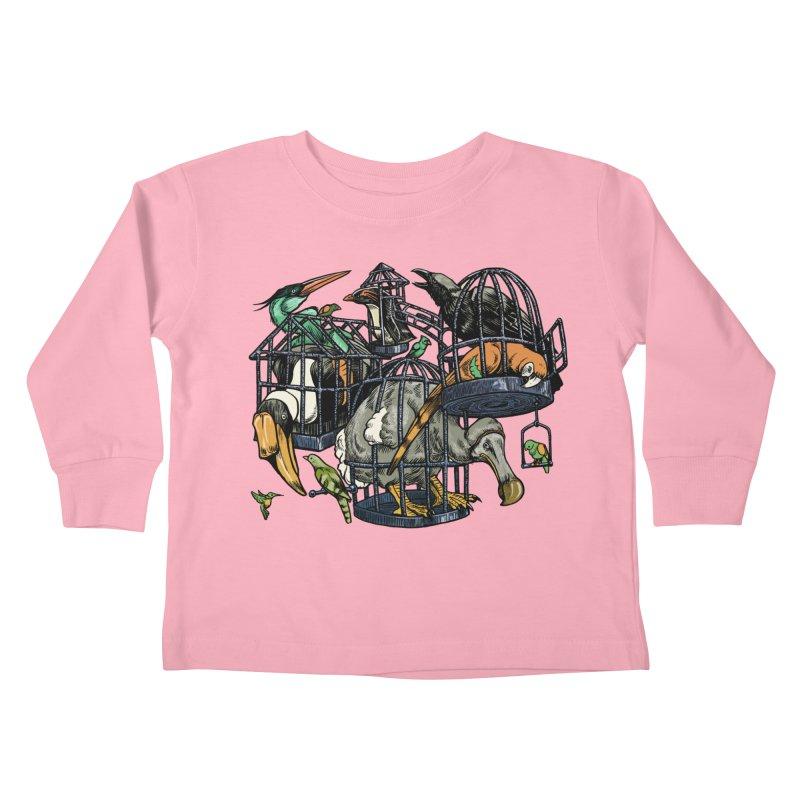 The Aviary Kids Toddler Longsleeve T-Shirt by Octophant's Artist Shop