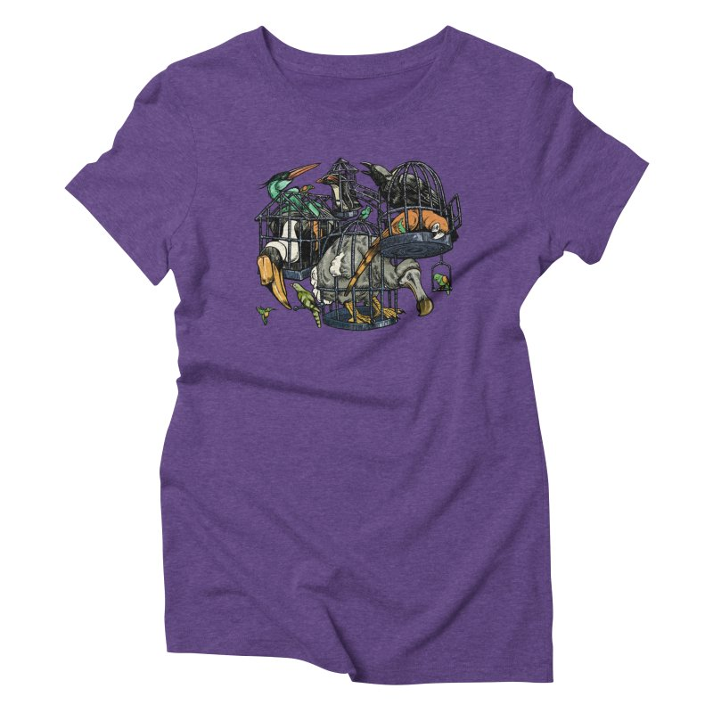 The Aviary Women's Triblend T-Shirt by Octophant's Artist Shop