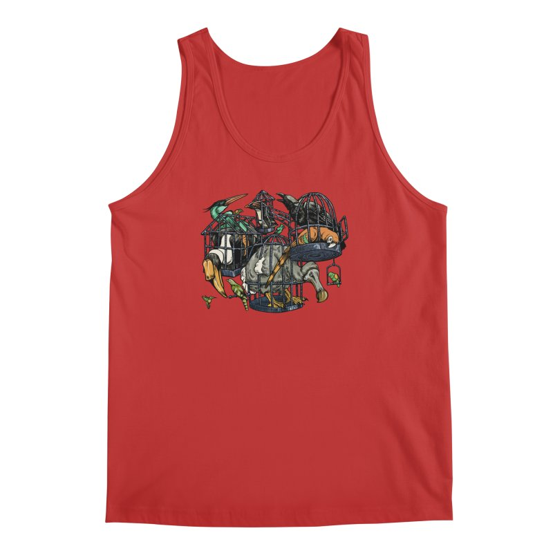 The Aviary Men's Tank by Octophant's Artist Shop