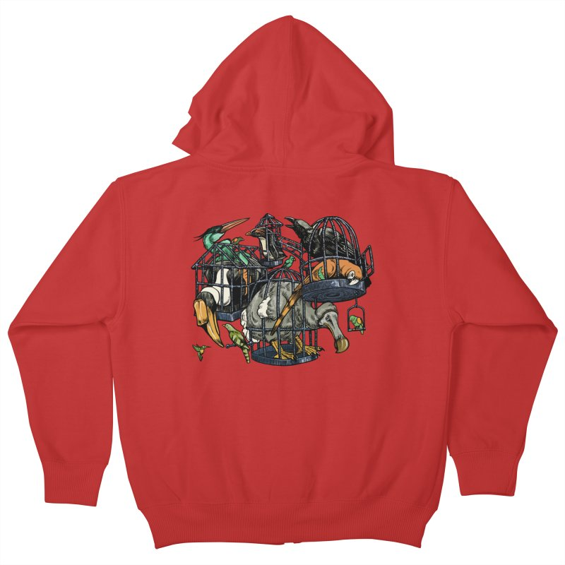 The Aviary Kids Zip-Up Hoody by Octophant's Artist Shop