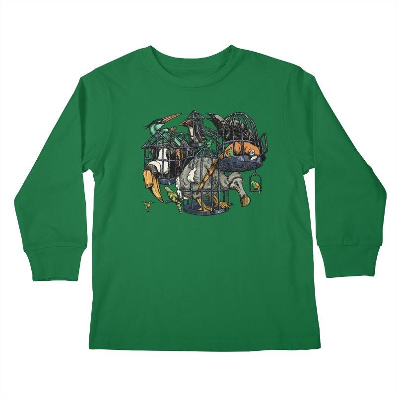 The Aviary Kids Longsleeve T-Shirt by Octophant's Artist Shop