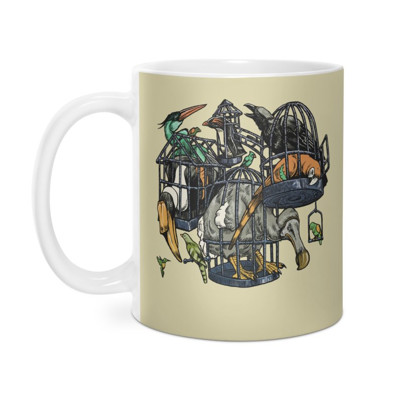 The Aviary Accessories Mug by Octophant's Artist Shop