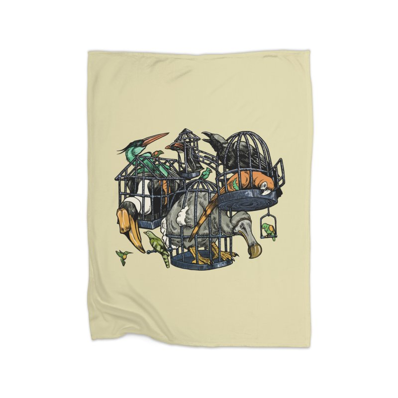 The Aviary Home Blanket by Octophant's Artist Shop