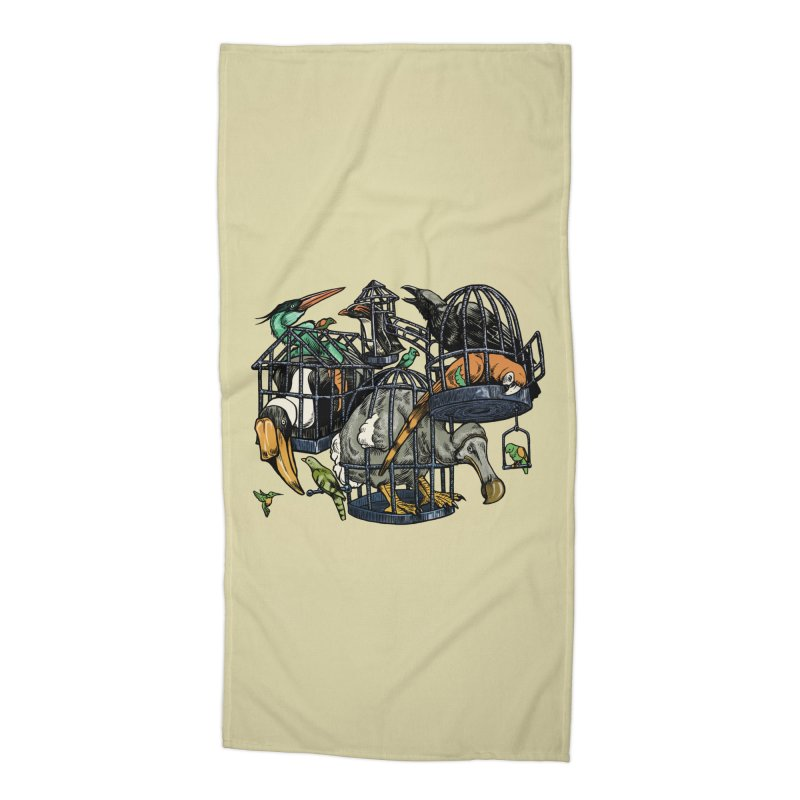 The Aviary Accessories Beach Towel by Octophant's Artist Shop