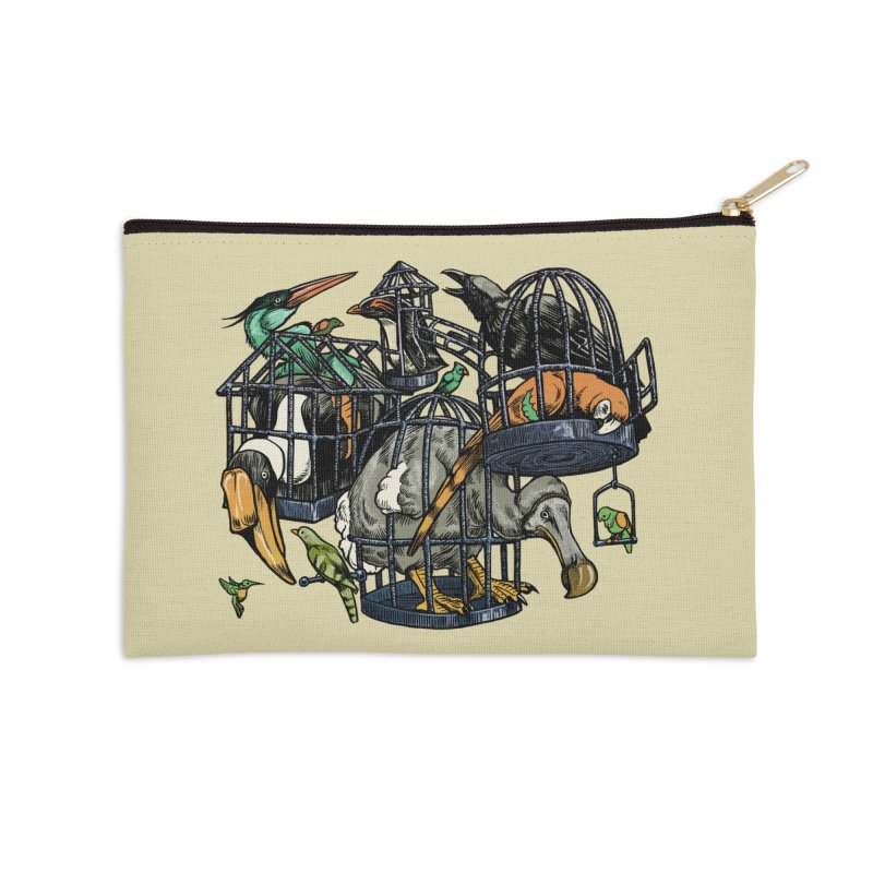 The Aviary Accessories Zip Pouch by Octophant's Artist Shop