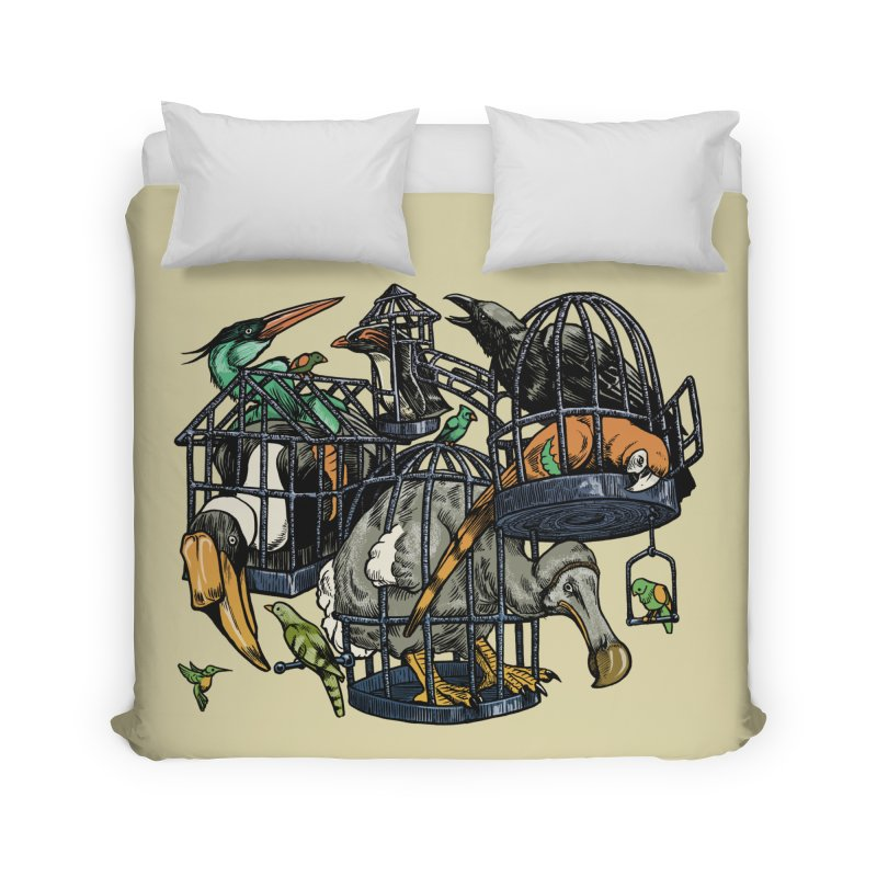 The Aviary Home Duvet by Octophant's Artist Shop