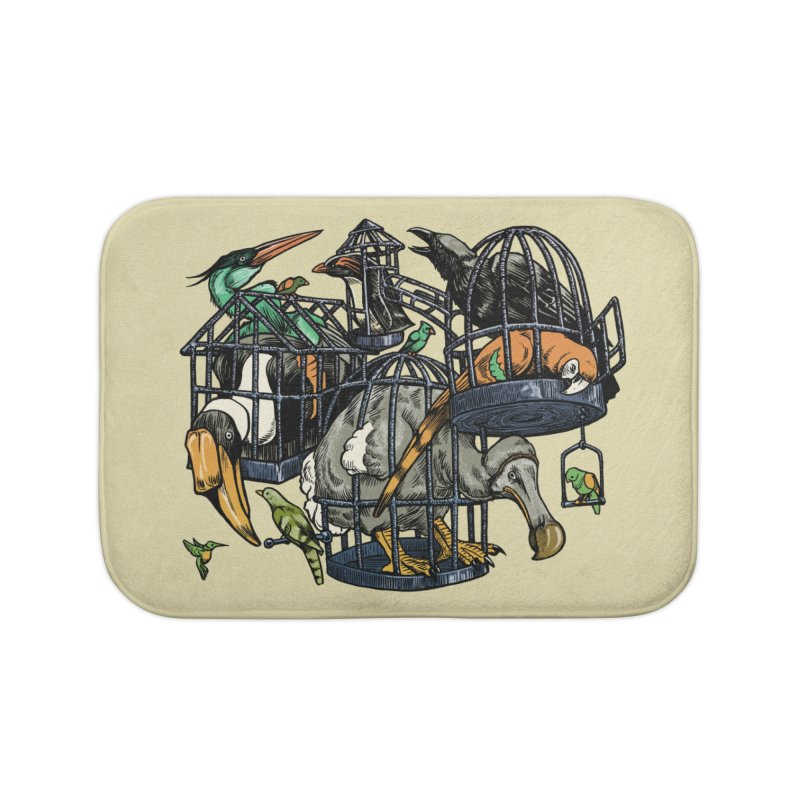 The Aviary Home Bath Mat by Octophant's Artist Shop