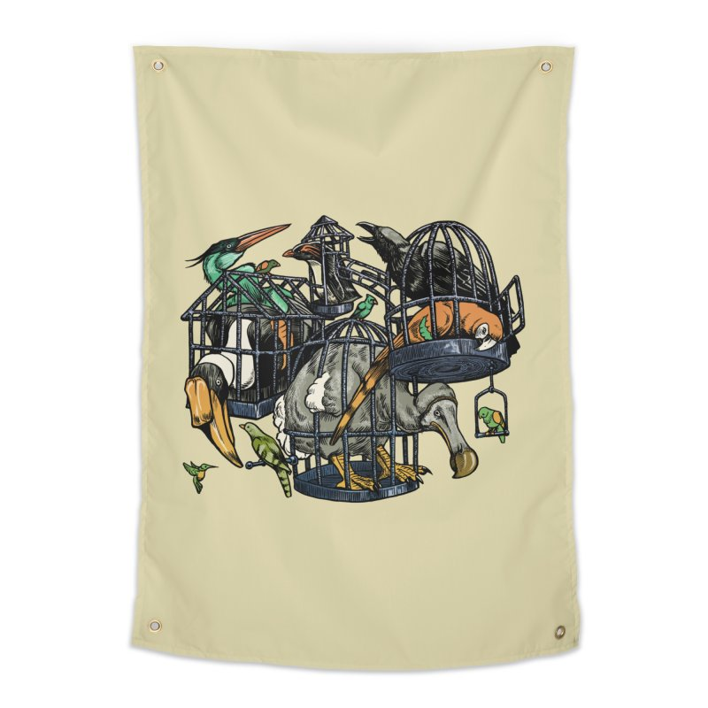 The Aviary Home Tapestry by Octophant's Artist Shop