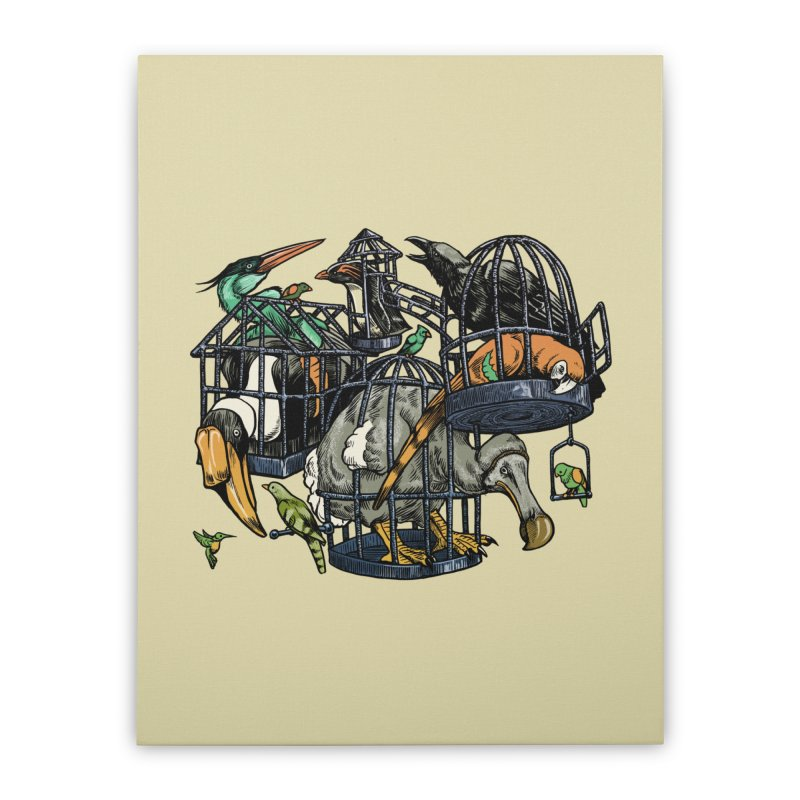The Aviary Home Stretched Canvas by Octophant's Artist Shop