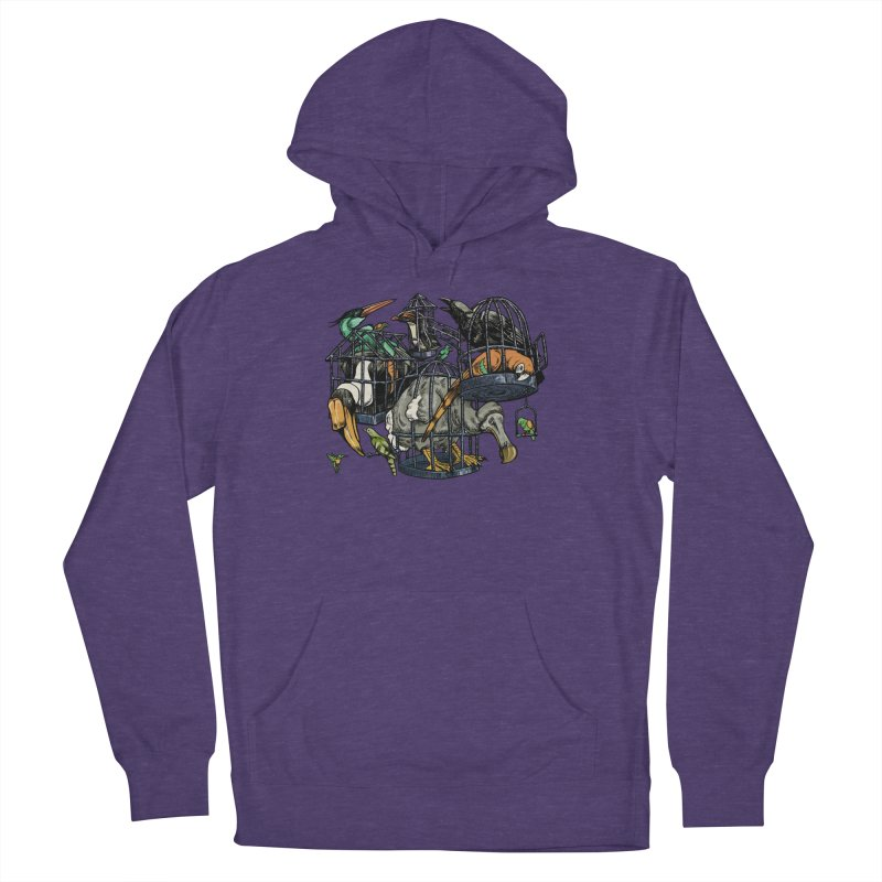 The Aviary Men's French Terry Pullover Hoody by Octophant's Artist Shop