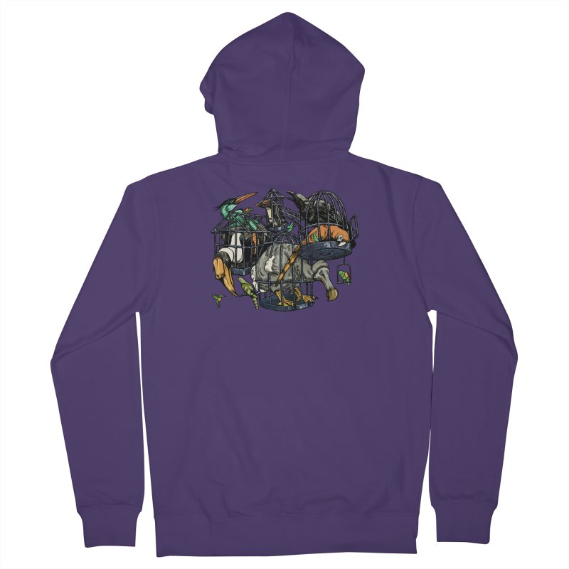 The Aviary Women's French Terry Zip-Up Hoody by Octophant's Artist Shop