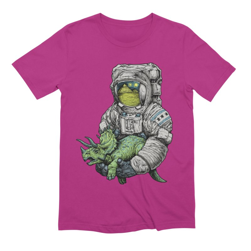Astro Dino Men's Extra Soft T-Shirt by Octophant's Artist Shop
