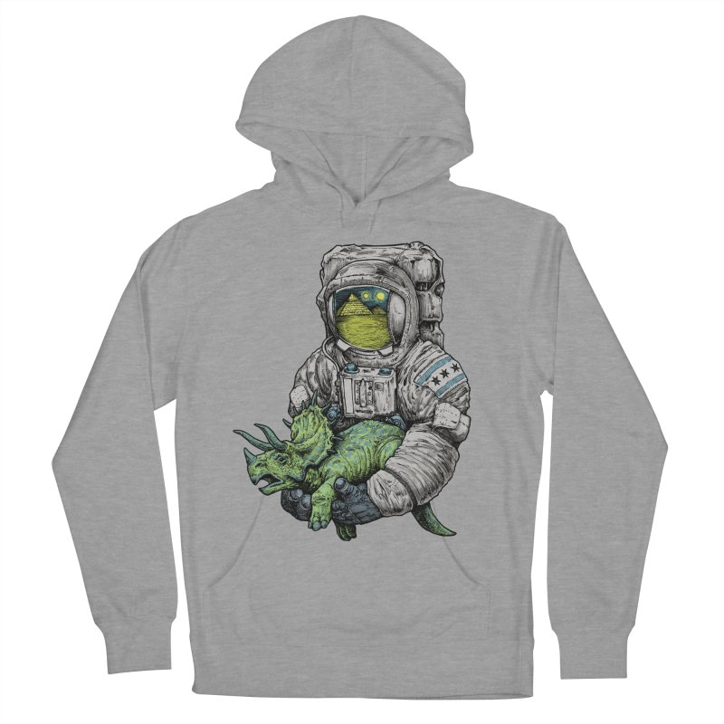 Astro Dino Men's French Terry Pullover Hoody by Octophant's Artist Shop