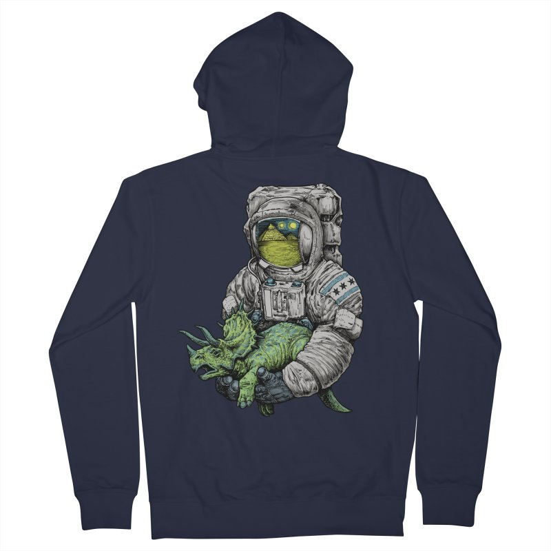 Astro Dino Men's French Terry Zip-Up Hoody by Octophant's Artist Shop