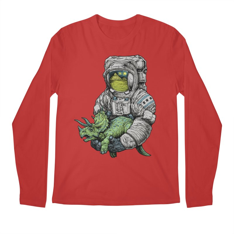 Astro Dino Men's Regular Longsleeve T-Shirt by Octophant's Artist Shop