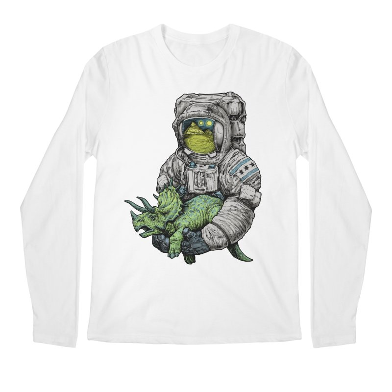 Astro Dino Men's Longsleeve T-Shirt by Octophant's Artist Shop