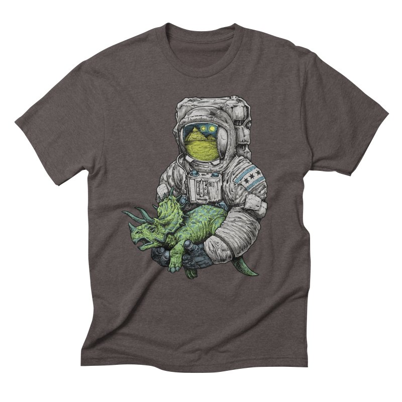 Astro Dino Men's Triblend T-Shirt by Octophant's Artist Shop