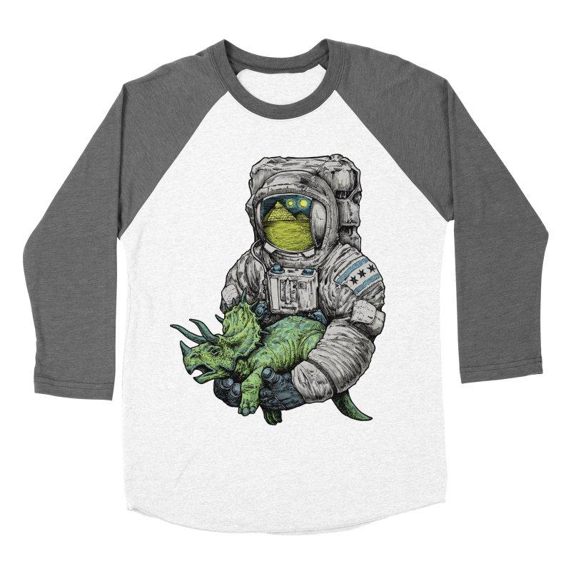 Astro Dino Women's Baseball Triblend Longsleeve T-Shirt by Octophant's Artist Shop