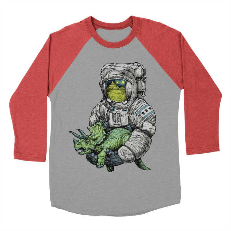 Astro Dino Men's Baseball Triblend T-Shirt by Octophant's Artist Shop