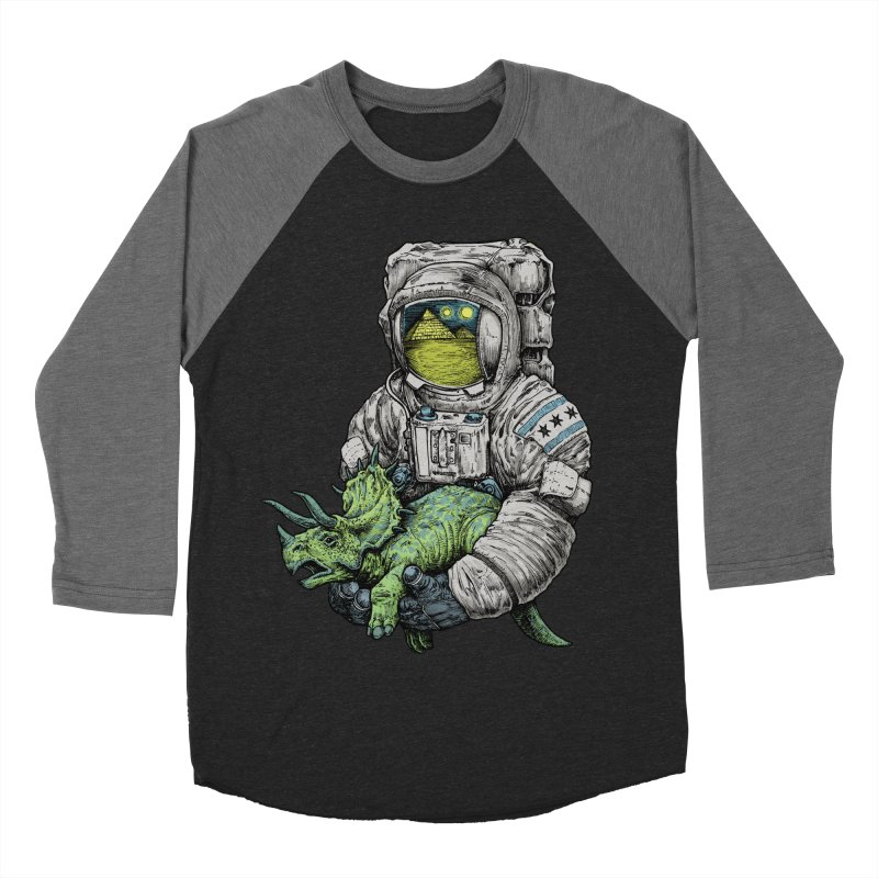 Astro Dino Men's Baseball Triblend T-Shirt by Octophant's Artist Shop