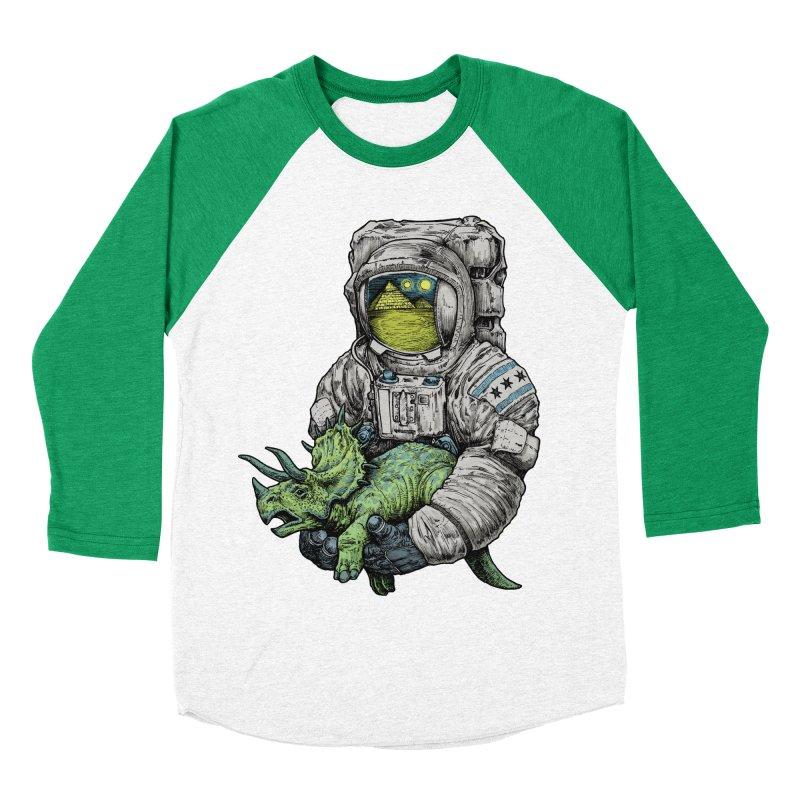 Astro Dino Men's Baseball Triblend Longsleeve T-Shirt by Octophant's Artist Shop
