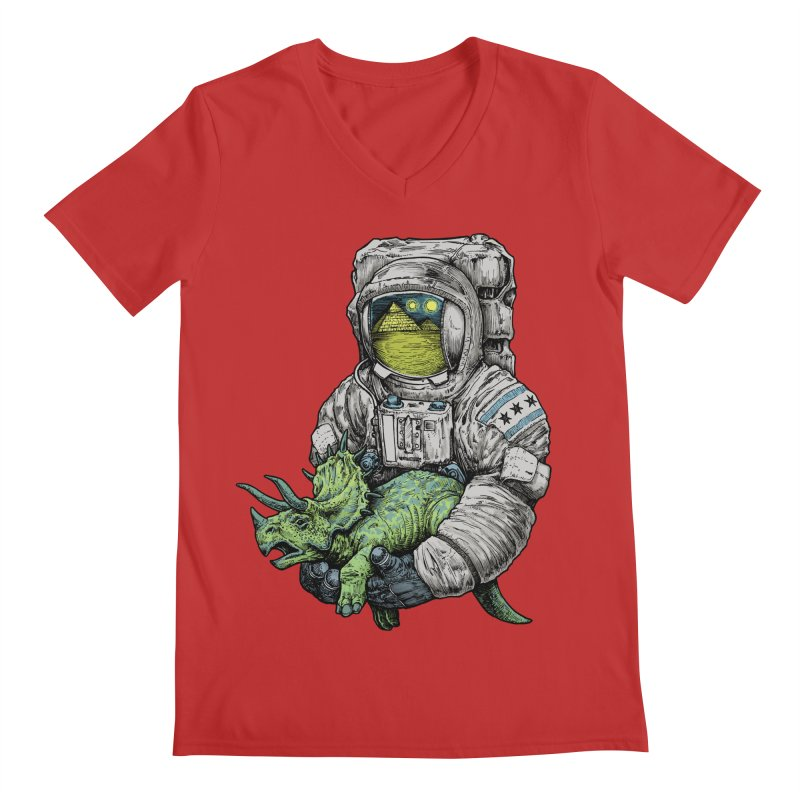 Astro Dino Men's V-Neck by Octophant's Artist Shop