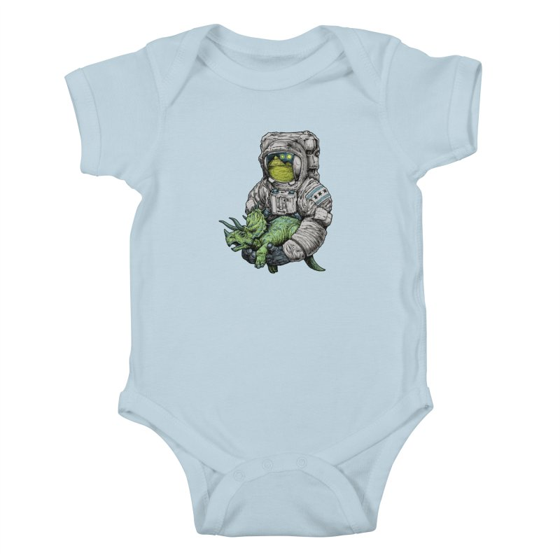 Astro Dino Kids Baby Bodysuit by Octophant's Artist Shop