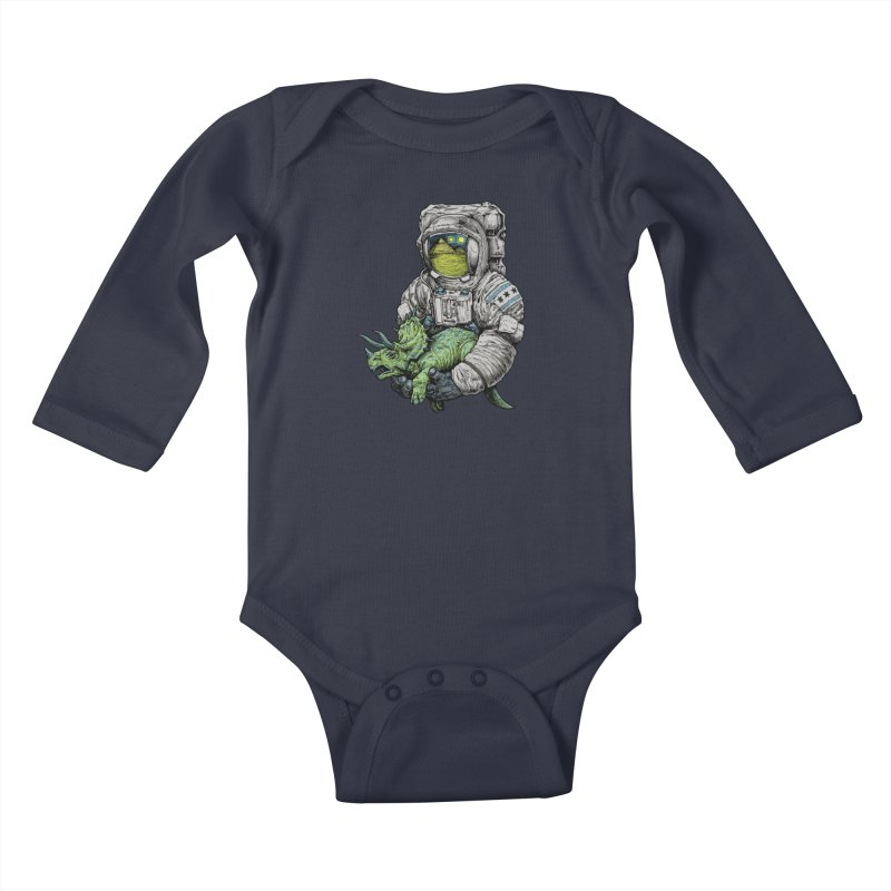 Astro Dino Kids Baby Longsleeve Bodysuit by Octophant's Artist Shop
