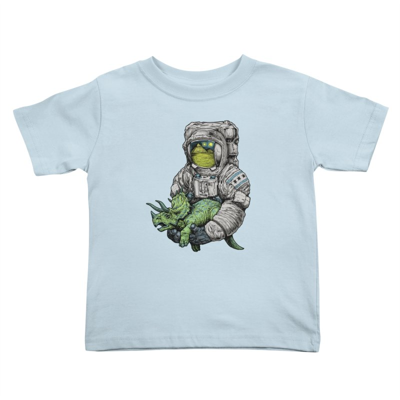 Astro Dino Kids Toddler T-Shirt by Octophant's Artist Shop