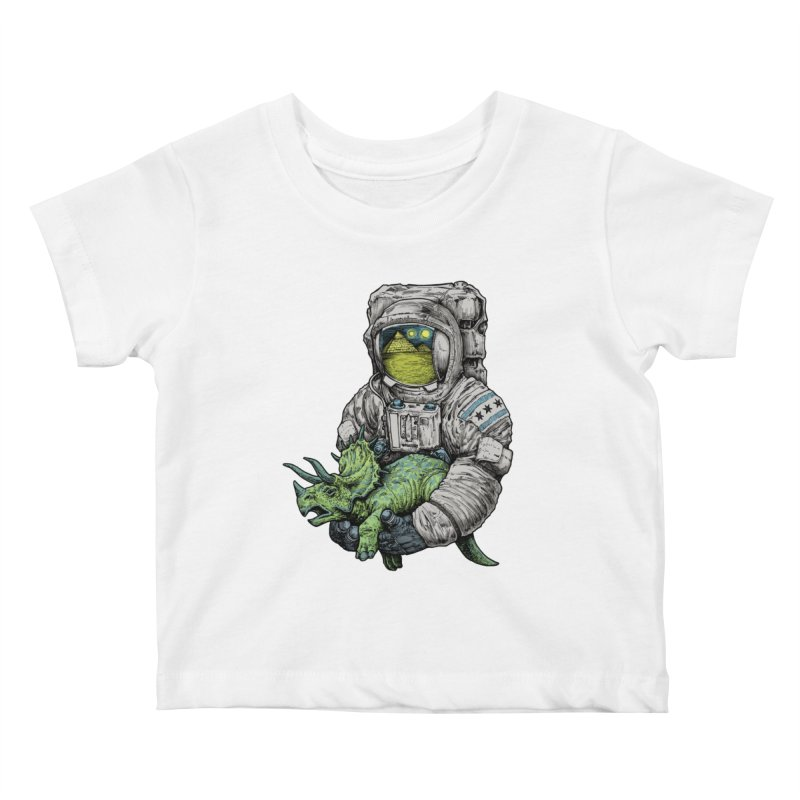 Astro Dino Kids Baby T-Shirt by Octophant's Artist Shop