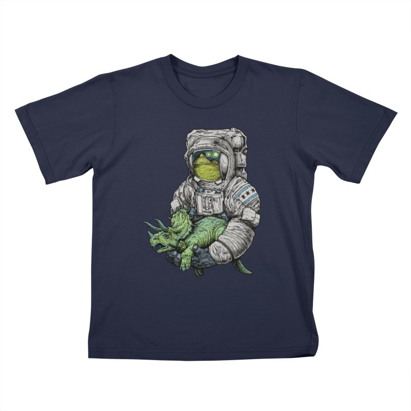 Astro Dino Kids T-Shirt by Octophant's Artist Shop