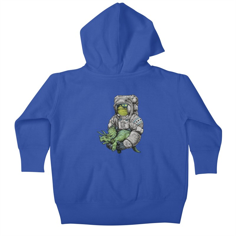 Astro Dino Kids Baby Zip-Up Hoody by Octophant's Artist Shop