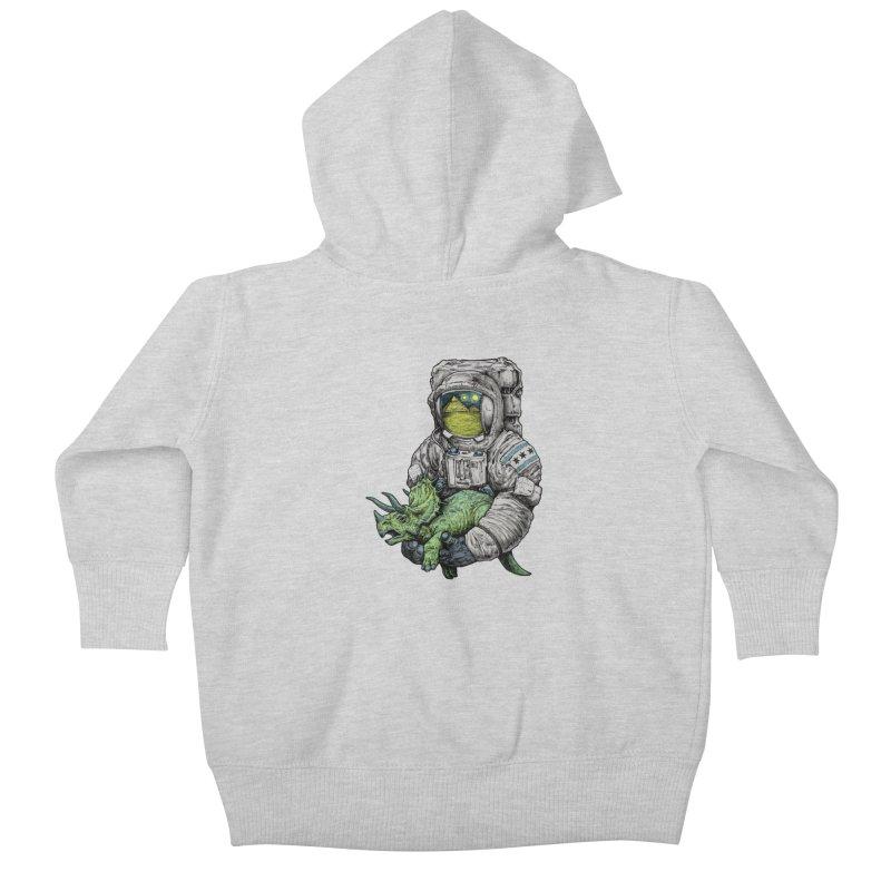 Astro Dino Kids Baby Zip-Up Hoody by Octophant's Artist Shop