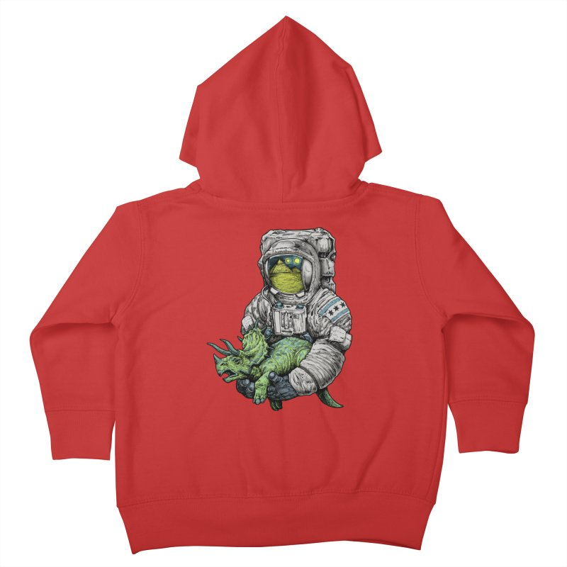 Astro Dino Kids Toddler Zip-Up Hoody by Octophant's Artist Shop